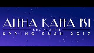 Someone In The Crowd | UW Alpha Kappa Psi Spring Rush 2017