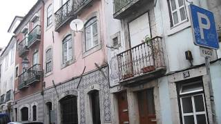 A typical street in Bairro Alto - Rua da Barroca Lisbon