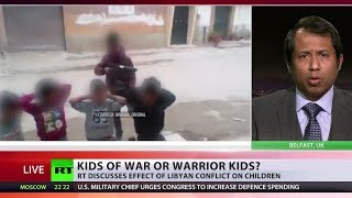 Shocking footage shows alleged Libyan children mimicking ISIS-style execution width=