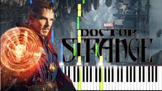 Hi-Finesse - Dystopia (Doctor Strange Official Trailer 2) [Synthesia Piano Tutorial]