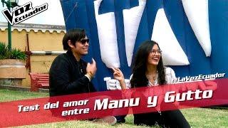 El test del amor entre Manu y Gutto - La Voz Ecuador