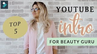 5 Best Youtube Intro for Beauty Guru Found In Filmora ♡ Easy Tutorials with Reina | Reina Gulle
