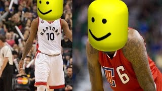 NBA posterizers but everytime someone gets dunked on the roblox death sound is played
