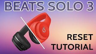 Beats SOLO3 Wireless Reset Troubleshoot Headphones