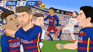 Parodia animada del Real Madrid 0 - 4 Barcelona 21/11/2015