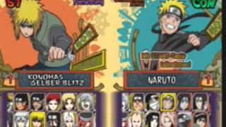 Naruto Shippuden Ultimate Ninja 5 All Characters