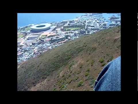 Flying in Cape Town, South Africa
