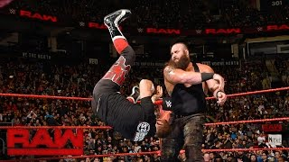 Sami Zayn vs. Braun Strowman: Raw, Nov. 21, 2016
