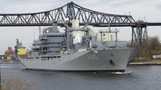 Militärschiff Bonn in Rendsburg 05.04.2013