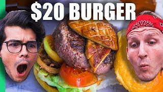 50¢ Burger Machine VS $20 Burger in Manila, Philippines! (w/ Erwan Heussaff) width=