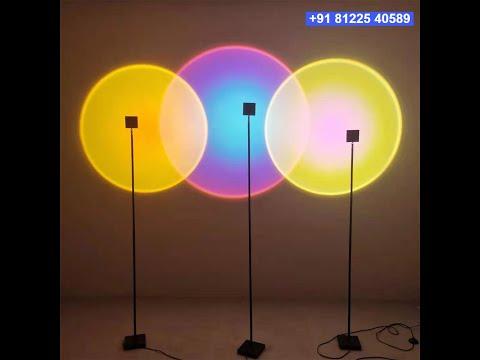 Rainbow RGB Light Colors Standee  Decor India +91 81225 40589