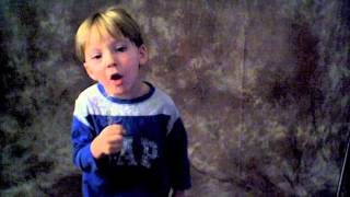 Bachman-Turner Overdrive (Takin' Care Of Business) Sung By 4 Year Old Sawyer