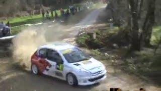 Rally do cocido 2009 accidente peugeot 206 [ouV]