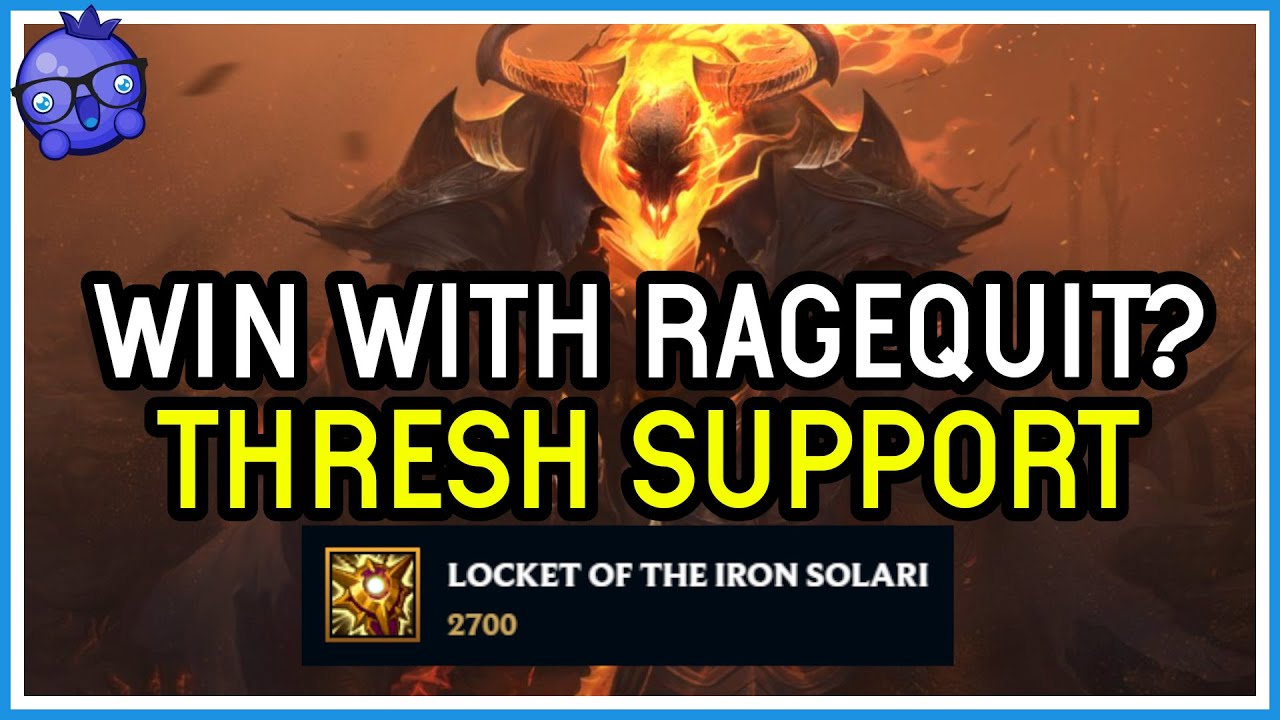 Bizzleberry - Rage Quitters are even in High ELO! - Thresh Support - League of Legends