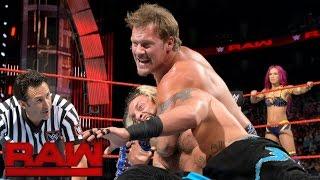 Enzo Amore & Sasha Banks vs. Chris Jericho & Charlotte: Raw, Aug. 1, 2016