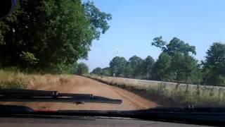 Real life dirt road driving