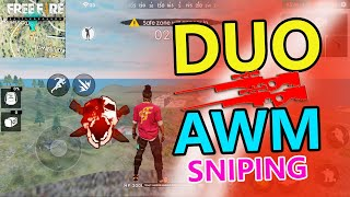 Ranked Match Duo AWM  Sniping   Garena Free Fire  