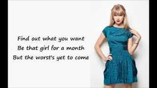 Taylor Swift - Blank Space (Lyrics)