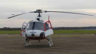 Helicóptero Águia decolando na AFA