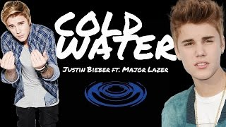 Major Lazer ft. Justin Bieber and MØ - Cold Water - Karaoke (Piano) with LYRICS (in CC)