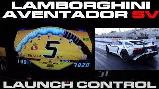 Lamborghini Aventador SV using Launch Control AKA Thrust mode down the 1/4 Mile