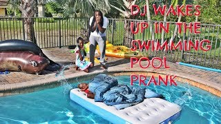 DJ WAKES UP IN THE SWIMMING POOL PRANK width=