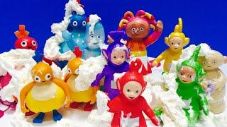 WHIPPING CREAM Party with Teletubbies, Twirlywoos and In The Night Garden Toys!