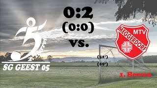 Highlights SG Geest 05 II vs. MTV Meggerdorf - 0:2 (0:0) - 08.10.2017