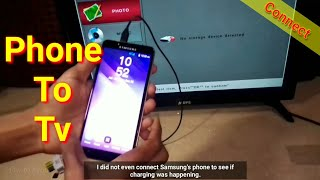 How To Connect 4G Smartphone To TV using USB Data Cable (charging wire)