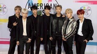 BTS 2017 American Music Awards Red Carpet Jungkook, Jimin, V, Suga, Jin, J-Hope, Rap Monster