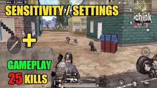 Sensitivity and Gameplay | Solo Vs Squad | PUBG Mobile