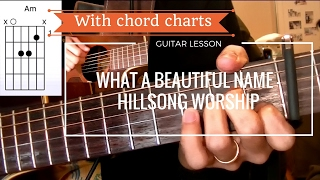Hillsong worship - What a beautiful name | QUICK GUITAR LESSON
