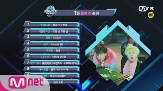 What are the TOP10 Songs in 2nd week of January? M COUNTDOWN 170112 EP.506