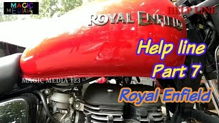 Royal Enfield tips and trick HELP LINE program part 7 .| help line  videos royal enfield users.
