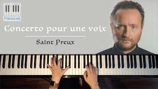Concerto pour une voix - Saint Preux - piano cover