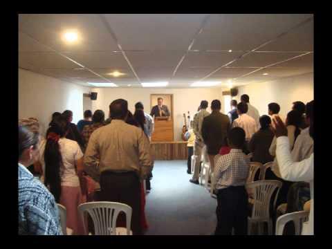 Culto en Quito Ecuador en el tabernáculo del Hno FELIPE CHIRIBOGA