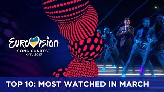 TOP 10: Most watched in March 2017 - Eurovision Song Contest