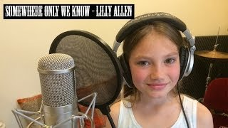 "Lily Allen - ""Somewhere only we know"" - 8 Year Old Singing"