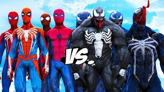 TEAM SPIDERMAN VS TEAM VENOM - EPIC BATTLE
