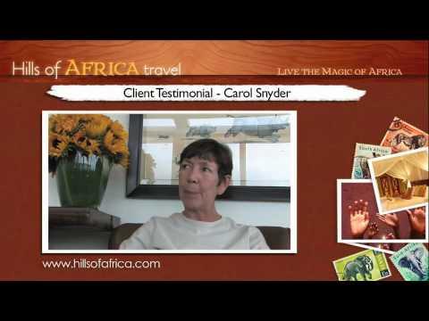 Soul Safari with Ainslie MacLeod: Testimonial by Carol Snyder