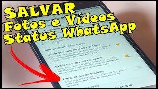 Ative Essa Opção Para Salvar Fotos e Vídeos do Status do WhatsApp No Celular Sansung Galaxy J7 Prime
