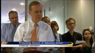 SU Chancellor addresses closure of advocacy center after students storm his office
