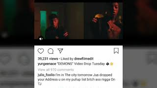Rapper Yungeen Ace and Foolio Has Beef and DISSES each other.