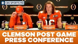Clemson Post Game Press Conference: 2020 National Championship | CBS Sports HQ