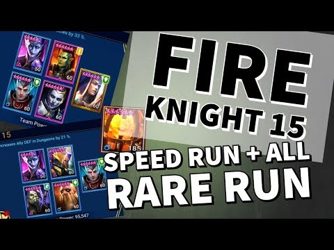 [RAID SHADOW LEGENDS] FIRE KNIGHT'S CASTLE SPEED RUN + ALL RARE RUN