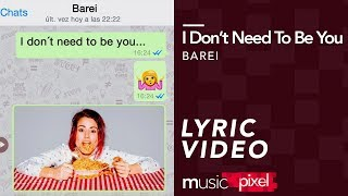 Barei - I Don't Need to Be You (Lyrics - Letra) | musicPixel