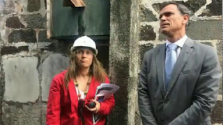 Visita às obras na Sé do Funchal em Maio de 2017