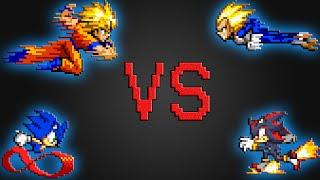 Sonic & Goku VS Shadow & Vegeta Pt. 2