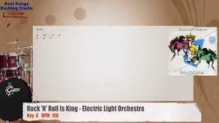 Rock 'N' Roll Is King - Electric Light Orchestra ELO Drums Backing Track with chords and lyrics