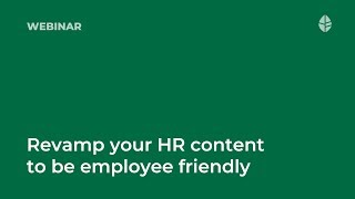 Webinar   How to revamp your HR content to be employee friendly Logo